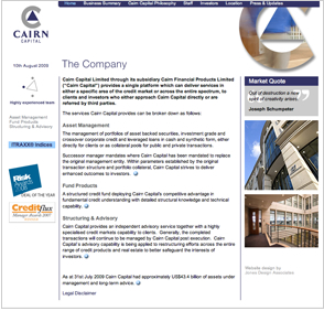 Website - Cairn Capital